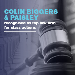 Colin Biggers & Paisley recognised as top law firm for class actions